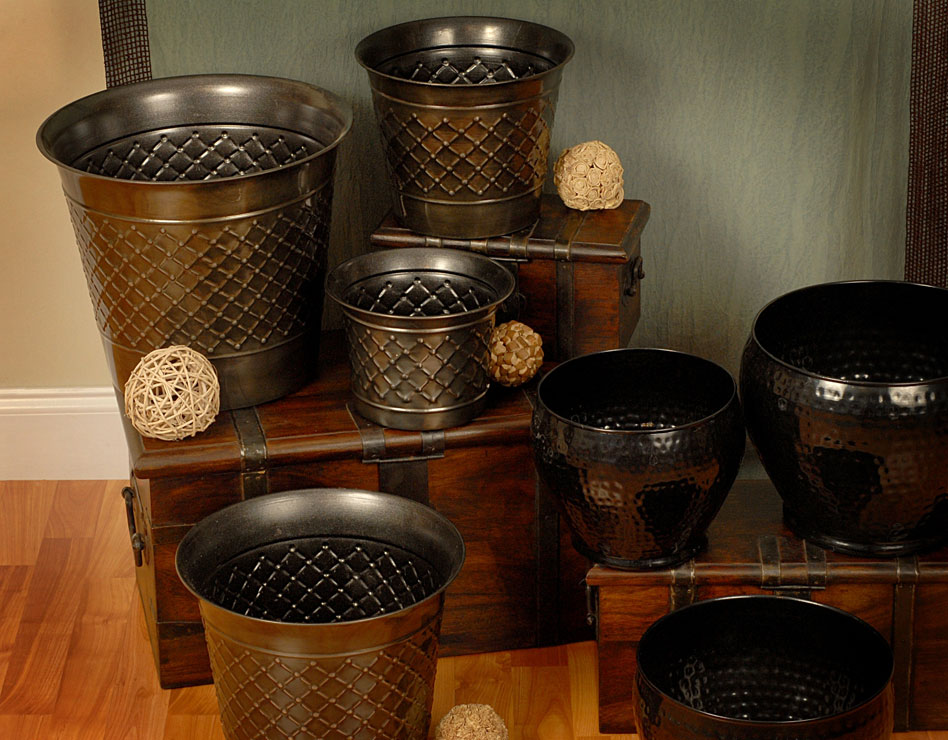 Metal Planters & Vases Collection