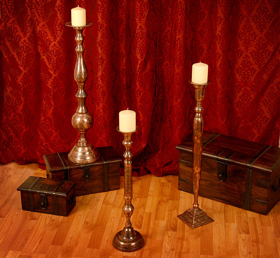 Old World Candle Holders Collection